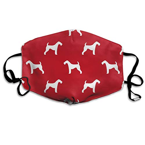 Airedale Terrier Dog Breed Pet Quilt Silhouette Coordinates Dog Anti Dust Mask Washable Wiederverwendbar Mouth Masks