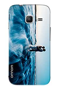 Omnam Couple Making Love In Clouds Printed Designer Back Case Samsung Galaxy J1 Ace (J110)