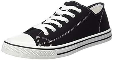 3f775b8dc83 Mens Canvas Bumper Shoes - Retro plimsolls - Baltimore  Amazon.co.uk ...