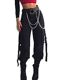 Amazon.it: pantaloni militari donna Nero Pantaloni