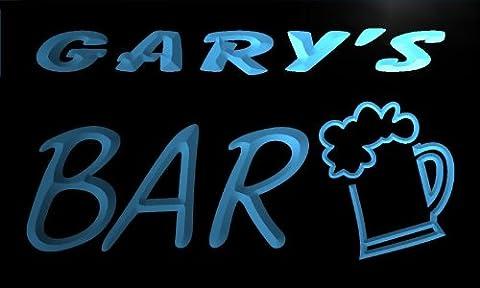 pv026-b Gary's Bar Beer Mug Glass Pub Neon Light Sign