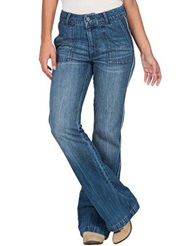 Damen Jeans Hose Volcom Wide Leg Flare Jeans (Flare Leg Wide Jeans)