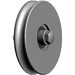 Galet gorge 1/2 ronde - axe à visser Ø 100-1 Roult