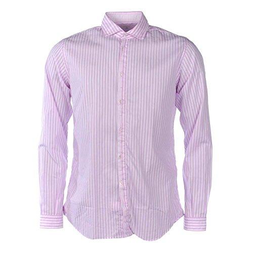 Delsiena cotone a righe camicia a maniche lunghe