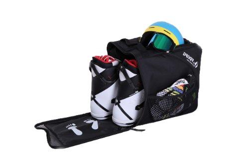 Stiefeltasche mit Helmfach für Hart/Softboots/Inliner schwarz