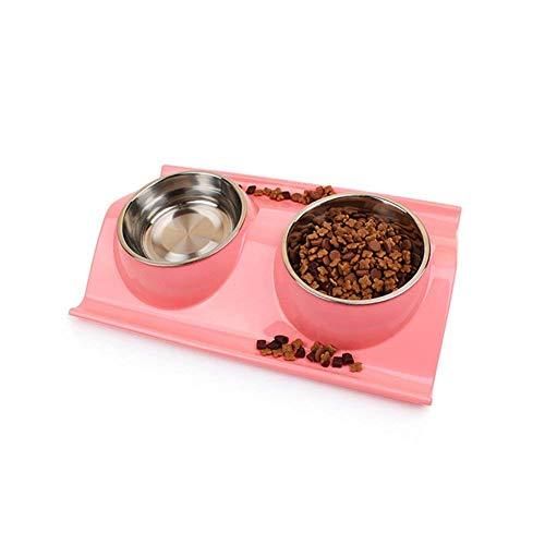 Ciotole per gatti cani ciotola gatto gatti acciaio inox con antiscivolo w-shaped base ciotola cane per acqua e cibo piccoli animali pet feeder