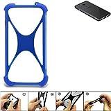 K-S-Trade Handyhülle Meizu Pro 6S Silikon Schutz Hülle Cover Case Bumper Silikoncase TPU Softcase Schutzhülle Smartphone Stoßschutz, blau (1x)