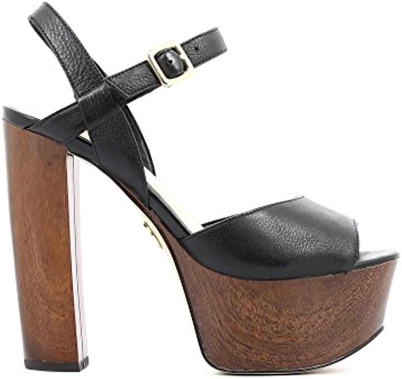 Guess Sandaletten Damen Schwarz FLDE21LEA03-BLACK 2018 Letztes Modell  Mode Schuhe Billig Online-Verkauf