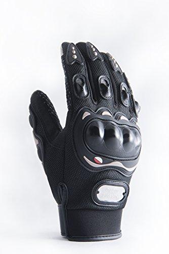 Motorradhandschuhe Pursuit Moto L schwarz kurz Sommer Touchscreen für Herren und Damen Motocross Handschuhe Fahrrad MTB Roller Sport Mofa
