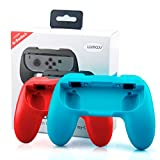 Switch Joy Con Grip for Nintendo Switch Joy-Con Controllers, Lammcou Pair Neon Red & Blue Switch Joycon Grips Handle Holder Case for Nintendo Switch Game Accessories Super Mario Odyssey Party - 2 Pack