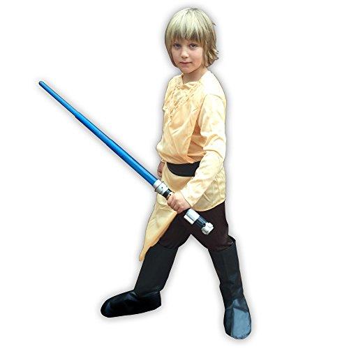 Kinder-Kostüm Luke Skywalker Star Wars Jungen Kinderkostüm Star Wars Kleinkind, Kindergröße:140 - 8 bis 10 Jahre