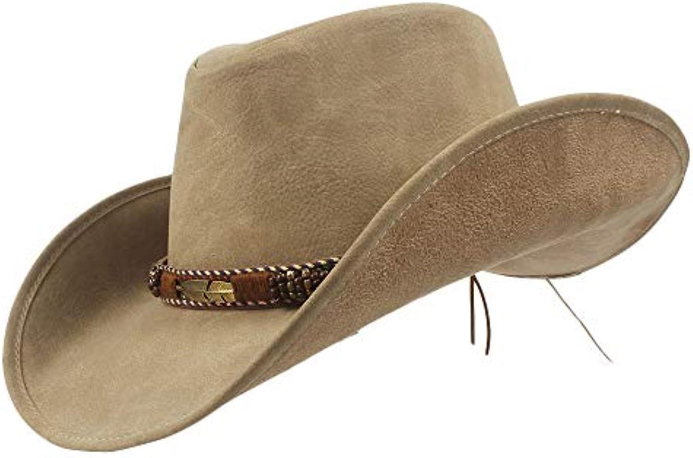 Copricapo Cappello Cowboy Occidentale in Pelle da Uomo in Pelle Marca di  Marca Pelle Nuovo Cappello da Cowgirl da Donna con... f257f1 cb9f1a34940b
