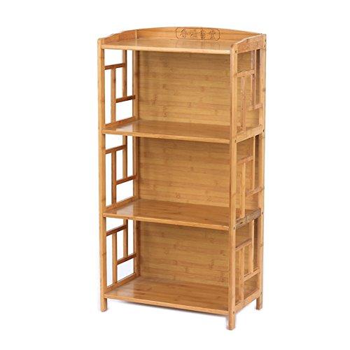 JX&BOOS Bücherregal,Massivem holz bambus bücherregal chinesische antike bücherregale einfache kombination bookrack-E 50x30x100cm(20x12x39) (Chinesische Holz-möbel Antike)