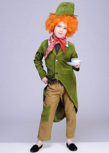 Kinder Mad Hatter Style Kostüm mit Perücke Large 8-10 (Mad Für Kostüm Hatter Kids)