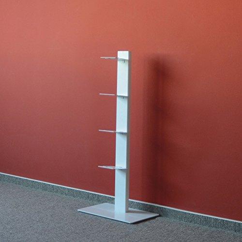 Booksbaum Bücherregal Stand 2 klein - weiß - 2 Regal-audio-stand