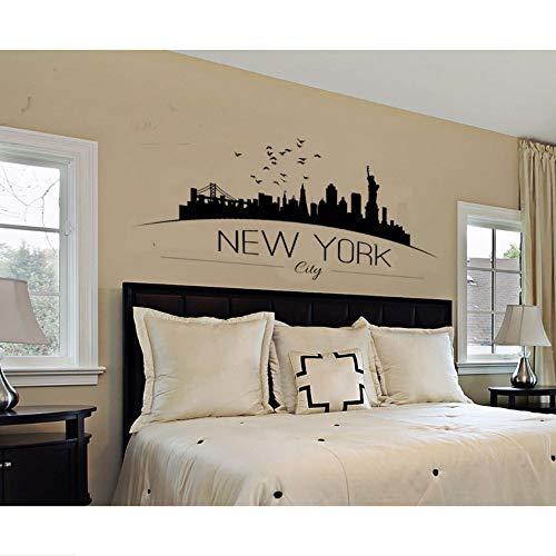 Yzybz Hauptdekor Große Nyc New York City Skyline Wandtattoos Stadt Skyline Silhouette Wandaufkleber Schlafzimmer Dekoration