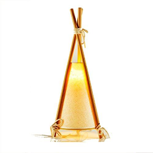 personnalité simple Chambre à coucher Petite lampe de table Chaude Rurale Étude Belle lampe de chevet Simple Modern Child Creative