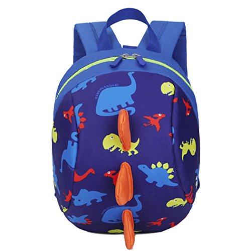 Niños Patrón Dinosaurio Animales Mochila Niñas Escuela bolsa By VENMO (azul oscuro)