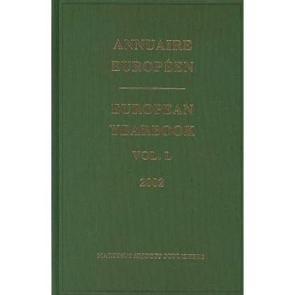 Annuaire Europeen 2002/European Yearbook 2002