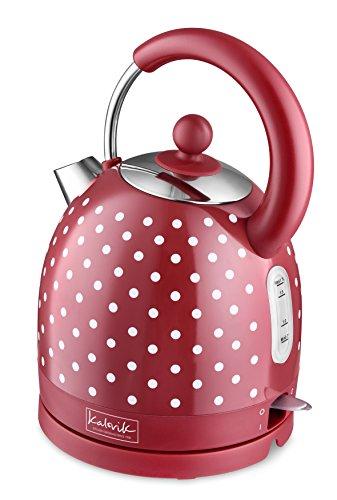 Fcps Calendar 2020 18.Kitchen Originals By Kalorik Jk39083 Kitchen Originals Polka Dot Dome Kettle Stainless Steel Red