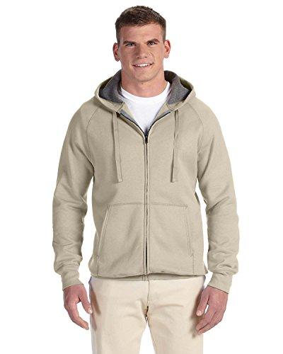 Hanes Men' s Nano Premium Lightweight Fleece Hoodie Kaki - Vintage