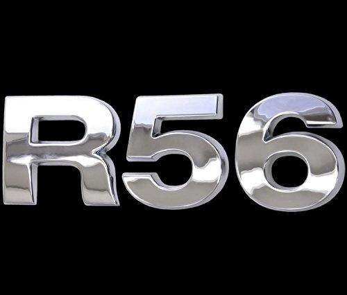 3D Chrom Emblem Aufkleber Logo R56 Tuning Cooper Motor Renn Sport Mini L096