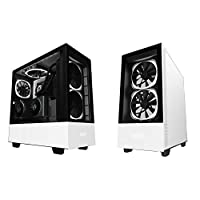 NZXT H510 Elite RGB ATX Mid Tower Case Tempered Glass Including AER RGB 2 Fans - white