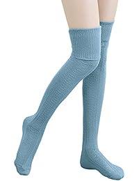 HITOP 1 par Mujer 09.1808 überknie de calcetines de chica Hold Up Retro escolar Knitting –