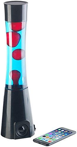 Lunartec Lavaleuchte: Lavalampe rot/blau mit 10-Watt-Lautsprecher, Bluetooth 4.1 und AUX-In (Magmalampe)