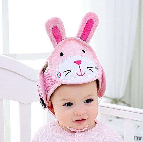 Hillento Baby Schutzhelm, Kleinkind Kinder Anti-Kollisionskopf Schutzkappe, Verstellbare Geschirre Kopfschutz Keine Unebenheiten Kopfpolster Schutzhelm, Kaninchen