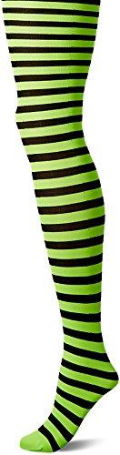 Leg Avenue 7100 - Blickdichte Ringel-Strümpfhose Kostüm Damen Karneval, Einheitsgröße (EUR 36-40), schwarz/zitrone