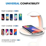 AURSEN-Dimmable-Night-Light-with-Fast-Wireless-Charger-Pad-Touch-Control-LED-Bedside-Lamp-Colorful-Mood-Light-75W-Qi-Fast-Charge-for-iPhone-XXRXSXS-MaxiPhone-88-Plus-10W-for-Samsung-Galaxy