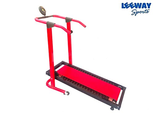 Manual Jogger Treadmill by Leeway| Roller Jogging Machine For Home| Foldable Tread Mill| Multifunction Walking and Jogging Gym Running Machines| Deluxe Tradmill| Lifeline Cardio Excersice- (RED)  available at amazon for Rs.12599
