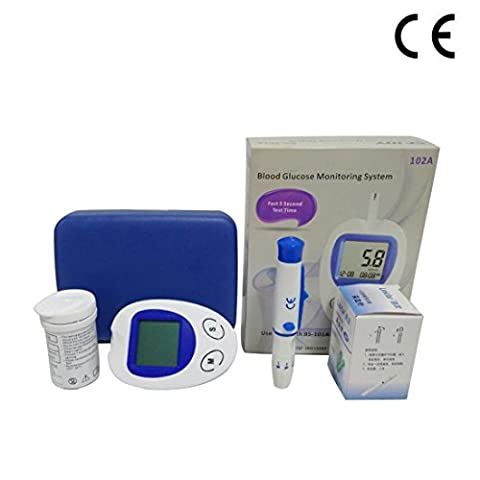 SENRU Blood Glucose Meter Kits-Blood Glucose Meter/Monitoring with 50pcs Test Strips and 50PCS sterile lancets ,Mini Body Protable,Show the Data Fast and Accurate,Easy to Use