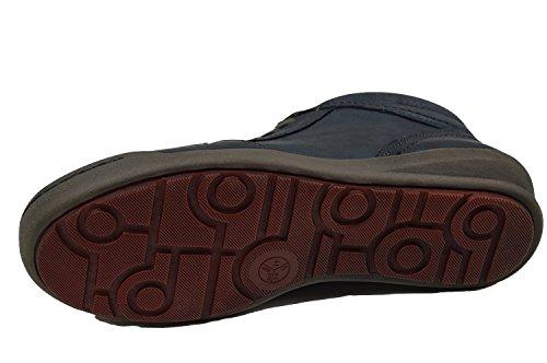 Jana 8-25206-23 Damen Sneaker, Knöchelhoch, Leder, Wechselfußbett navy (blau) navy ( blau )