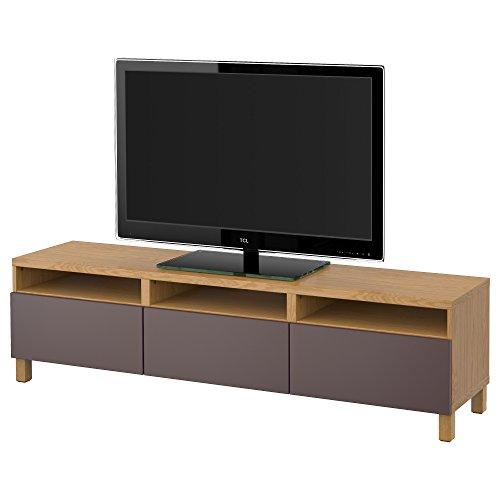 IKEA BESTA - TV-Bank mit Schubladen Eiche Effekt / valviken dunkelbraun