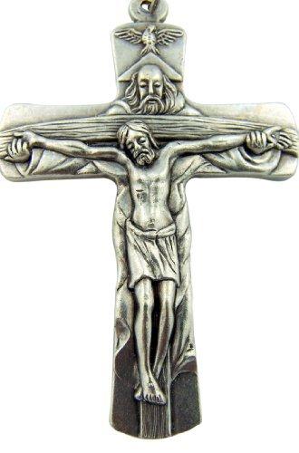 Silberne Boden Vater Sohn Heiliger Geist Taube Trinity Kreuz Kruzifix, 5,1cm von Religiöse Geschenke