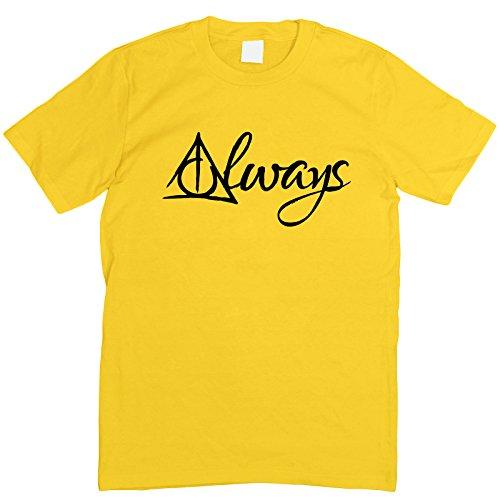 Prism Clothing Co. Herren T-Shirt Grün Grün Medium Gelb