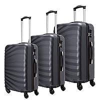 ea3a11264adf73 Toctoto Set di valigie Leggera Valigetta con guscio rigido Shell 3 Piece  (20