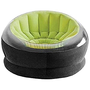 Intex 68582NP Loungen Sessel Empire Chair, phthalates frei, 112 x 109 x 69 cm, Sortierung: 1x grün/rosa/orange