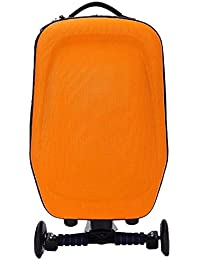 Orange: Hrph New 21Inch Hard-Shell Wheeled Wheels Scooter Luggage Suitcase With Skateboard For Travel Business