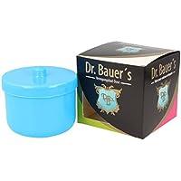 Dr. Bauer Recipiente dental-baño de limpieza | encaje de la prótesis | La dentadura puede | La dentadura puede con inserción | Los apoyos pueden azul claro (1 pieza)