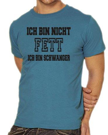 Touchlines Unisex/Herren T-Shirt Ich bin nicht FETT - Ich bin SCHWANGER, steelblue, XL, (Tshirt Kostüme Ich Vader Darth Bin Frauen)