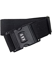 Vosarea Luggage Straps Adjustable Safety Travel Bag Accessories With Combination Lock - B07GZLZQQ2