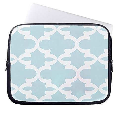 bhdangfds Blaugrün Vierpass-Muster, Koralle Monogramm Patten Laptop Sleeve 33cm MacBook Air 13MacBook Pro 13Hülle und 33,8cm Laptop Tasche
