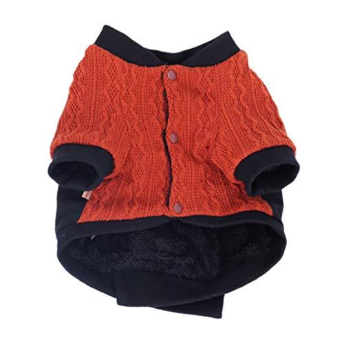 Etophigh Pet Herbst Winter und warme Kostüm für Katze Dog Boy Puppy Zwei Beine Knopf Mantel Tiger Head Print (Dog Boy Kostüm)