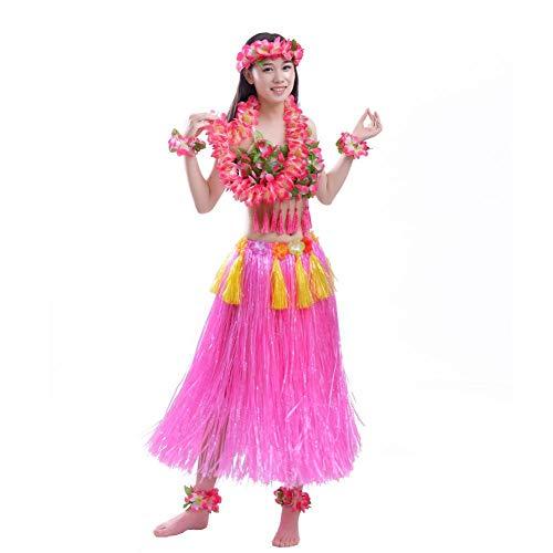 Arvin87Lyly Hawaii Party Kostüm Set Hawaiian Kostüm Für Erwachsene Hawaiian Kostüm Phantasie Hula Rock Kostüm, Hawaiian Party Dekoration Set Hula Luau ()