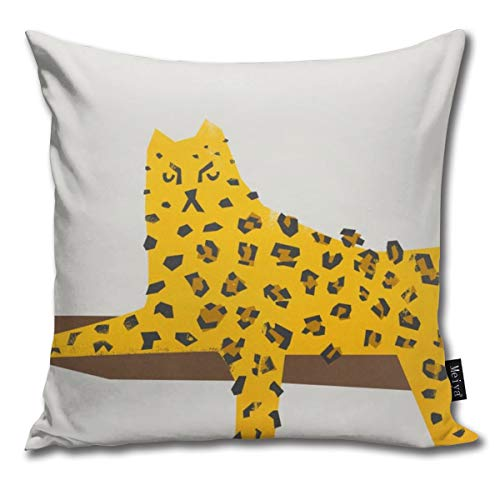Leopard Lazy Throw Pillow Cover Square New Living Series Decorative Throw Pillow Case Double Side Design 18