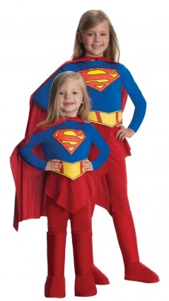 Supergirl-Kostüm Kindes (Lge) Fancy Dress Party-R885215LDEL