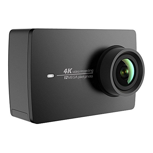 Yi 4 K Action Camera 4 K/30fps Video Registrazione 12 MP Actioncam con 155 ° grandangolare 5,56 cm (2,2 pollici) LCD Touch Screen, WiFi e App per Smartphone, comandi vocali - Nero